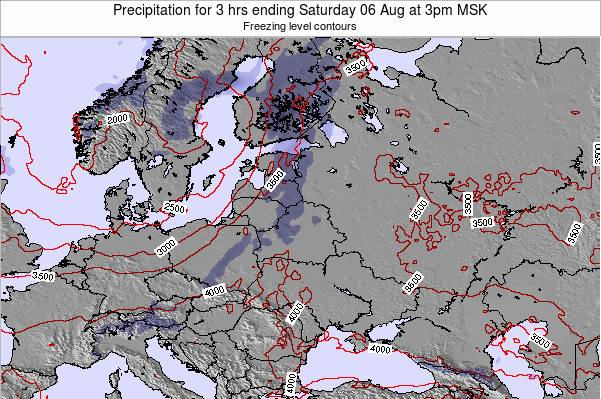 Latvia Precipitation for 3 hrs ending Wednesday 02 Sep at 9am MSK