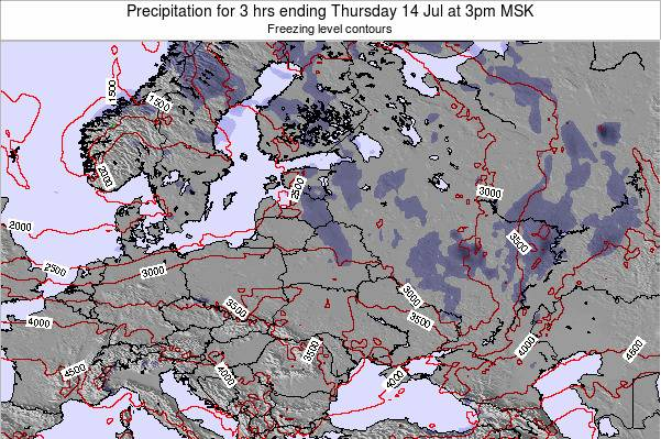 Estonia Precipitation for 3 hrs ending Tuesday 30 Aug at 9pm MSK
