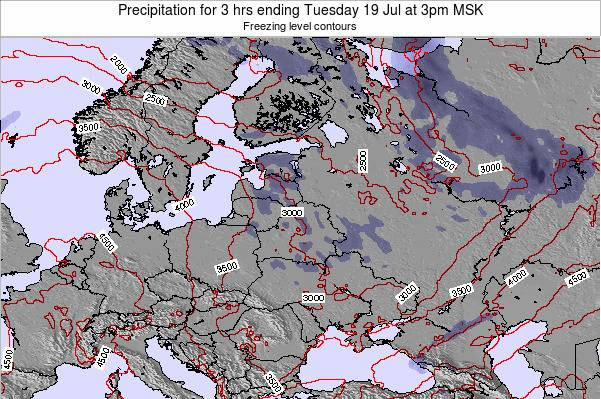 Lithuania Precipitation for 3 hrs ending Sunday 19 May at 3pm FET