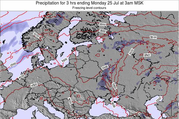 Estonia Precipitation for 3 hrs ending Friday 14 Mar at 9am FET