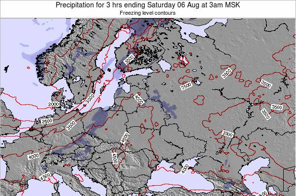 Estonia Precipitation for 3 hrs ending Wednesday 22 May at 3pm FET