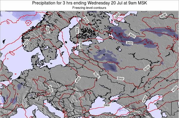 Estonia Precipitation for 3 hrs ending Wednesday 12 Mar at 3am FET