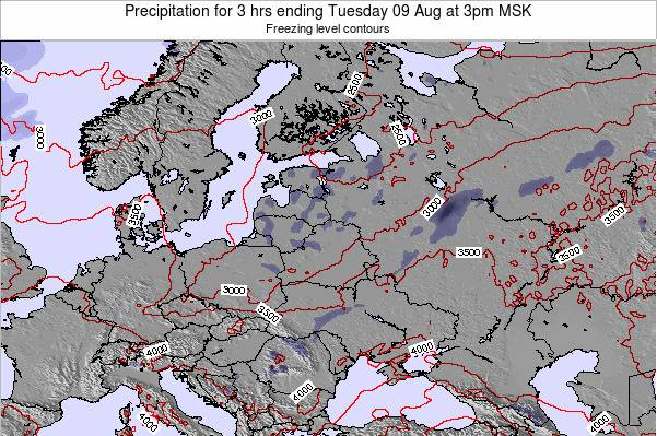 Latvia Precipitation for 3 hrs ending Saturday 29 Oct at 3am MSK