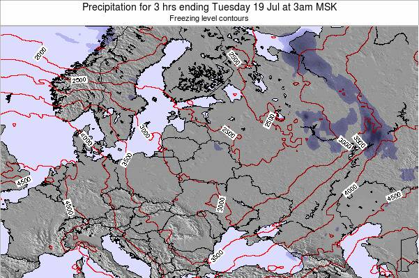 Latvia Precipitation for 3 hrs ending Saturday 15 Mar at 3am FET