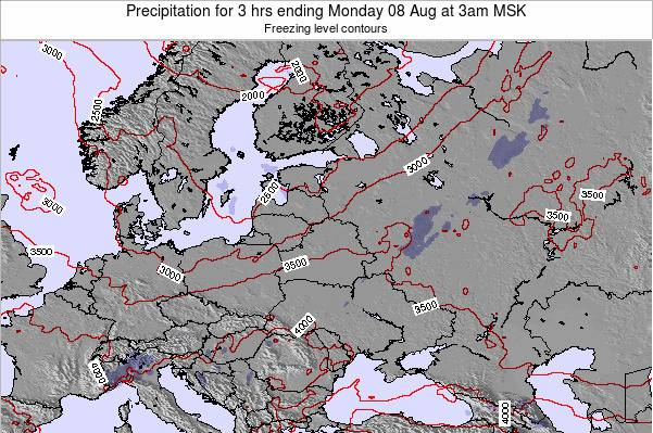 Latvia Precipitation for 3 hrs ending Friday 03 Apr at 3pm FET