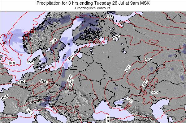 Latvia Precipitation for 3 hrs ending Wednesday 12 Mar at 9pm FET