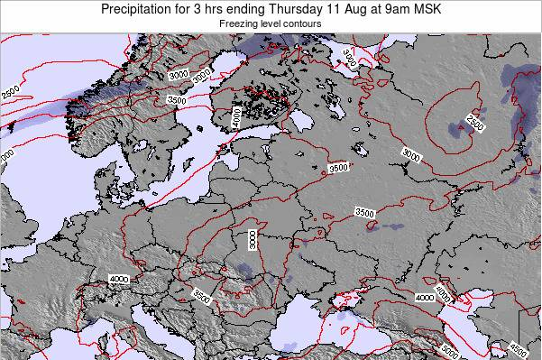 Latvia Precipitation for 3 hrs ending Friday 24 May at 3pm FET