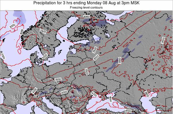 Estonia Precipitation for 3 hrs ending Friday 14 Mar at 9pm FET