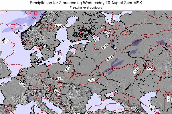 Lithuania Precipitation for 3 hrs ending Tuesday 21 May at 9am FET