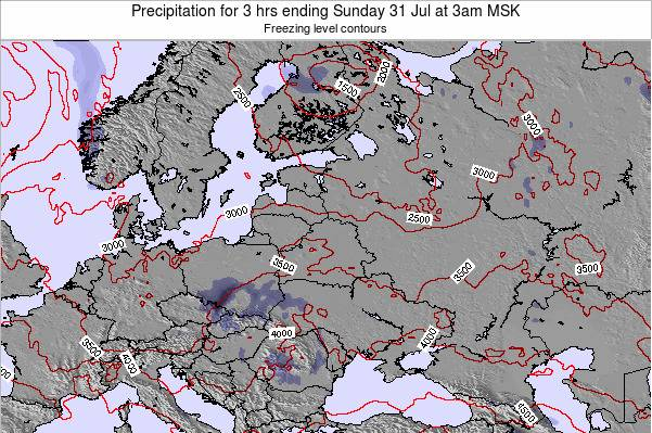Belarus Precipitation for 3 hrs ending Thursday 23 May at 3am FET map