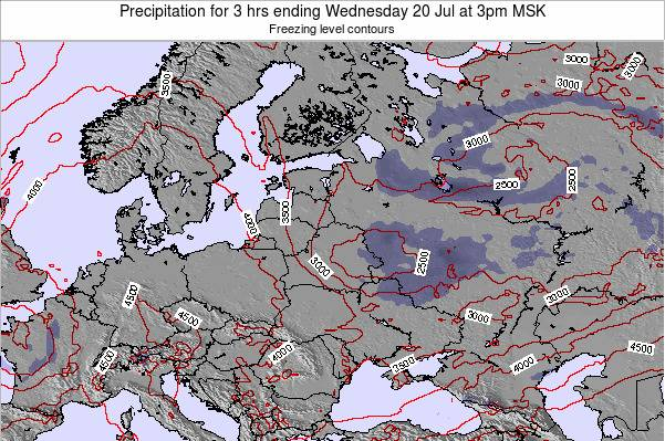 Estonia Precipitation for 3 hrs ending Wednesday 11 Dec at 9am FET