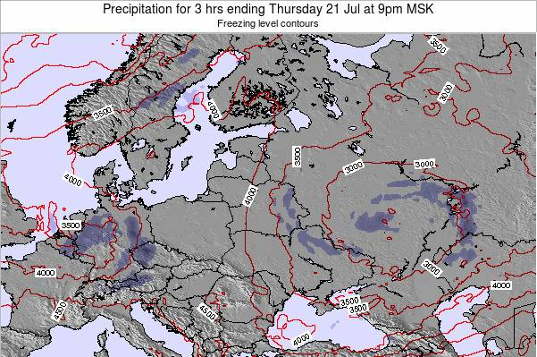 Estonia Precipitation for 3 hrs ending Sunday 25 Jun at 3pm MSK