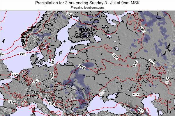 Latvia Precipitation for 3 hrs ending Wednesday 29 May at 3am FET