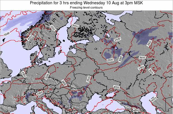 Belarus Precipitation for 3 hrs ending Monday 27 May at 3am FET map