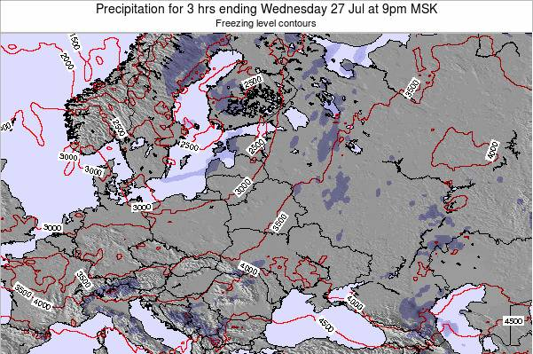 Latvia Precipitation for 3 hrs ending Saturday 25 May at 3pm FET