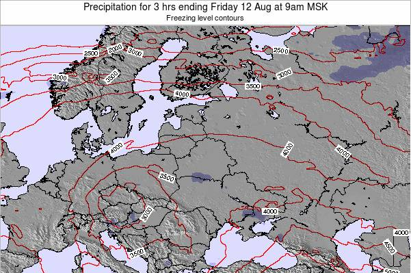 Latvia Precipitation for 3 hrs ending Thursday 13 Mar at 3am FET