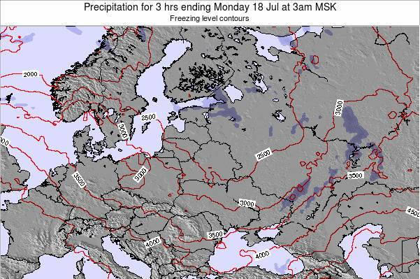 Latvia Precipitation for 3 hrs ending Monday 28 Apr at 3am FET
