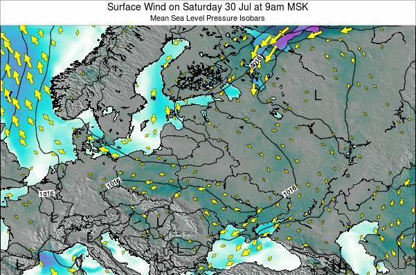Latvia Surface Wind on Tuesday 28 May at 9am FET