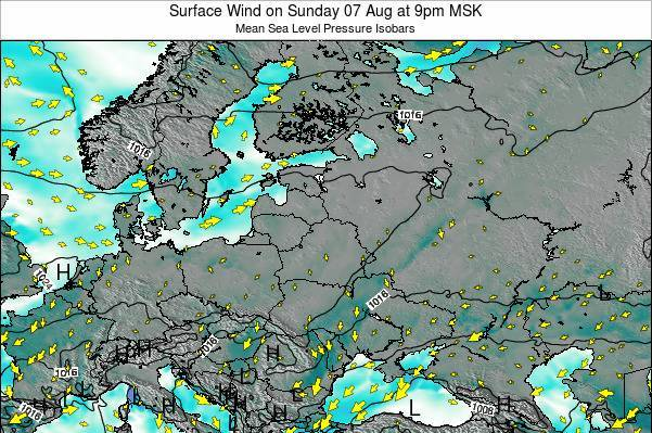 Latvia Surface Wind on Saturday 18 May at 9pm FET
