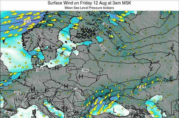 Latvia Surface Wind on Sunday 26 May at 9pm FET