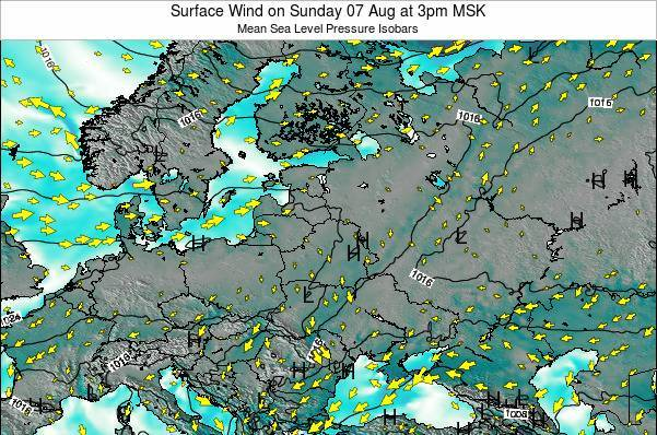 Latvia Surface Wind on Wednesday 22 May at 9pm FET