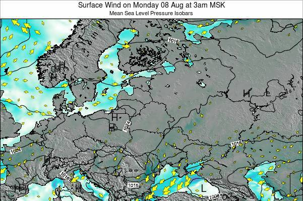 Latvia Surface Wind on Saturday 18 May at 3pm FET