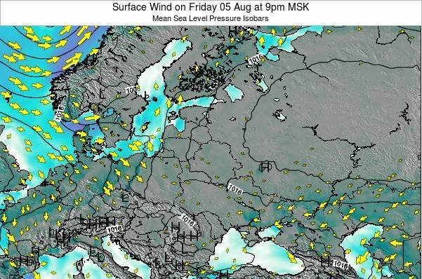 Lithuania Surface Wind on Thursday 23 May at 3pm FET
