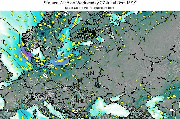 Lithuania Surface Wind on Sunday 26 May at 9pm FET