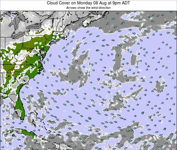 Bermuda Cloud Cover on Tuesday 29 Apr at 3pm ADT