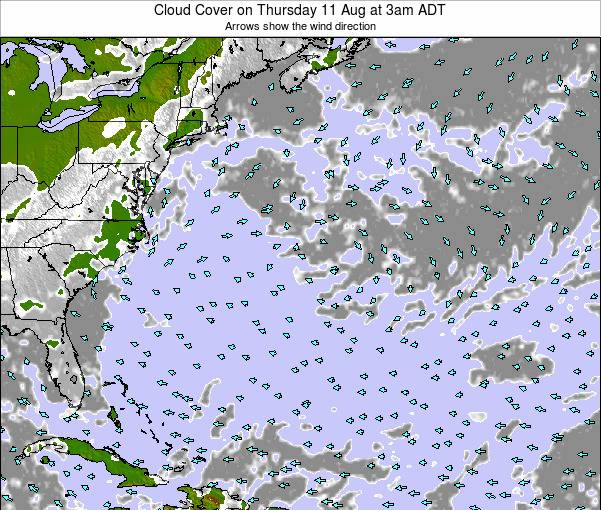 Bermuda Cloud Cover on Sunday 03 Jul at 9am ADT