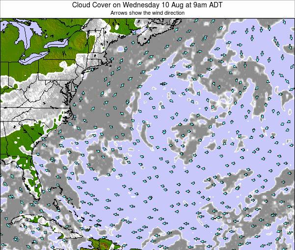 Bermuda Cloud Cover on Wednesday 29 May at 9am ADT