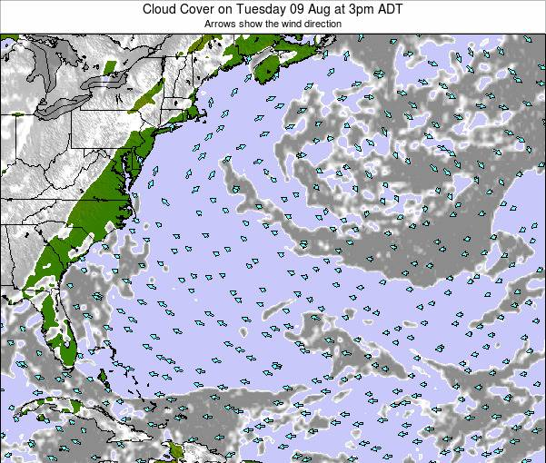 Bermuda Cloud Cover on Wednesday 27 Sep at 9pm ADT