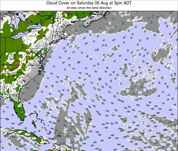 Bermuda Cloud Cover on Saturday 15 Mar at 9am ADT