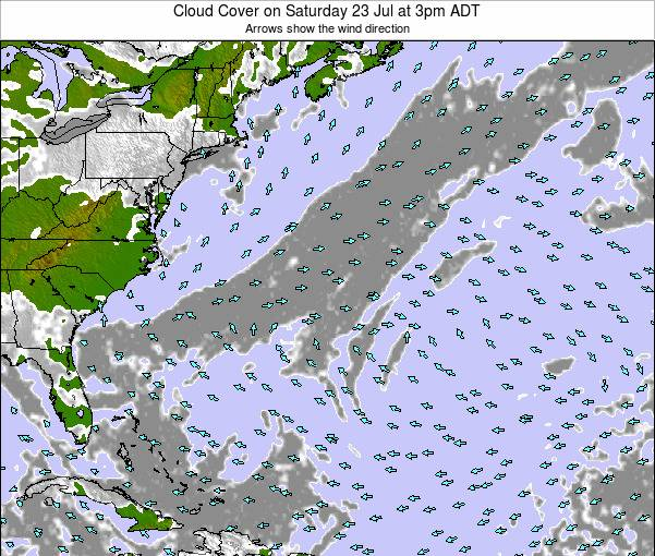 Bermuda Cloud Cover on Saturday 28 Oct at 3pm ADT