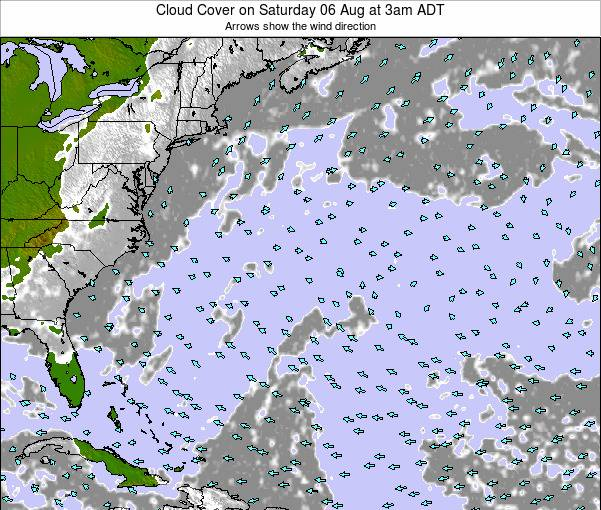 Bermuda Cloud Cover on Friday 16 Dec at 2pm AST