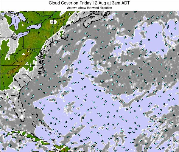Bermuda Cloud Cover on Thursday 12 Dec at 8pm AST