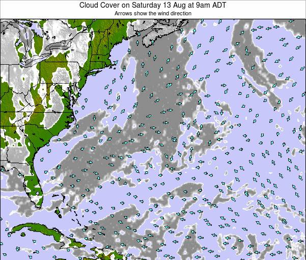 Bermuda Cloud Cover on Tuesday 29 Jul at 3pm ADT