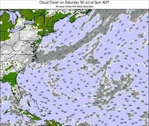 Bermuda Cloud Cover on Monday 31 Oct at 9am ADT