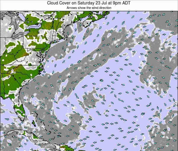 Bermuda Cloud Cover on Friday 14 Mar at 8am AST