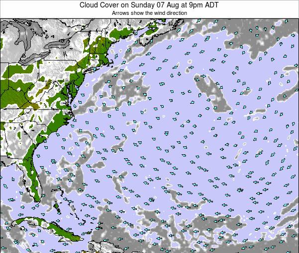 Bermuda Cloud Cover on Sunday 20 Apr at 3pm ADT