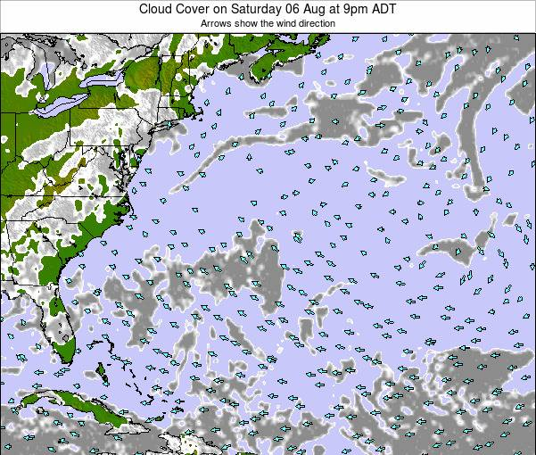 Bermuda Cloud Cover on Friday 06 Dec at 2am AST