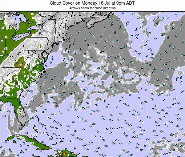 Bermuda Cloud Cover on Sunday 20 Apr at 9am ADT