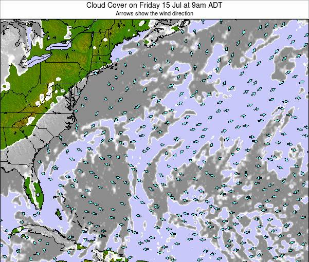 Bermuda Cloud Cover on Friday 25 Apr at 3pm ADT