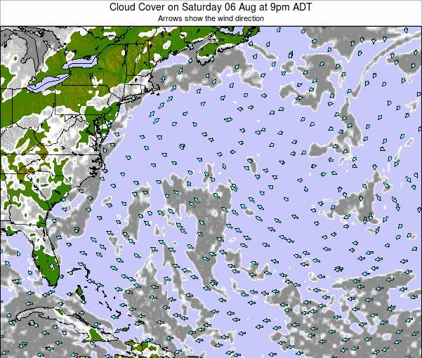 Bermuda Cloud Cover on Sunday 08 Dec at 2am AST