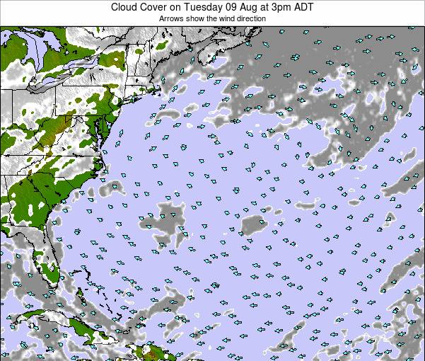 Bermuda Cloud Cover on Saturday 26 Apr at 9am ADT