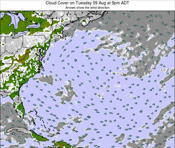 Bermuda Cloud Cover on Friday 24 May at 3pm ADT