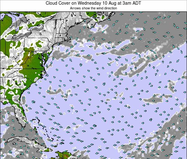 Bermuda Cloud Cover on Monday 28 Apr at 3am ADT