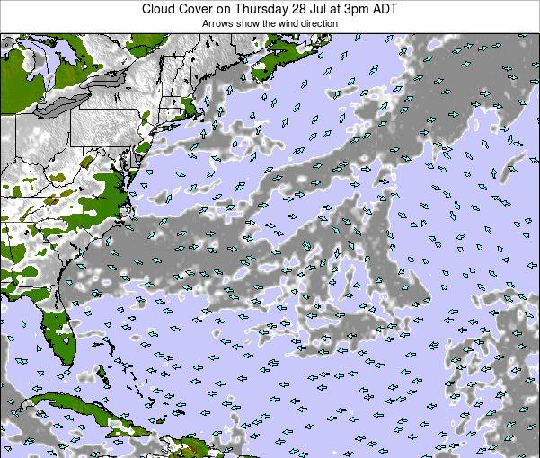 Bermuda Cloud Cover on Sunday 08 May at 9pm ADT