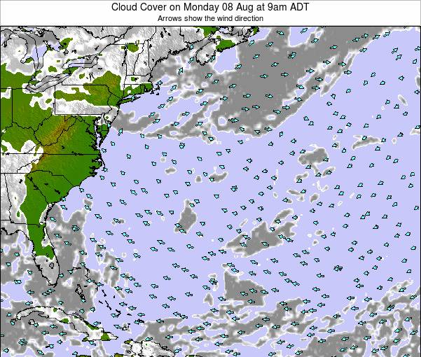 Bermuda Cloud Cover on Saturday 15 Mar at 3pm ADT