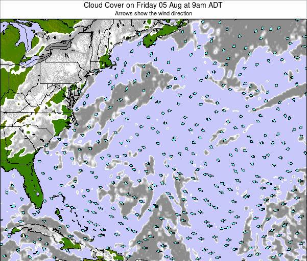 Bermuda Cloud Cover on Saturday 25 May at 9am ADT